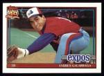 1991 Topps #610  Andres Galarraga  Front Thumbnail