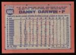 1991 Topps #666  Danny Darwin  Back Thumbnail