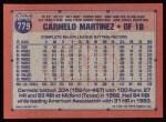 1991 Topps #779  Carmelo Martinez  Back Thumbnail