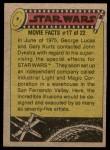 1977 Topps Star Wars #257   A pair of Jawas Back Thumbnail