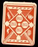 1951 Topps Red Back #24  Hank Bauer  Back Thumbnail