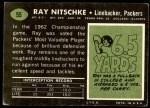 1969 Topps #55  Ray Nitschke  Back Thumbnail