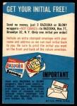 1958 Topps   Free Felt Initial Offer Card Back Thumbnail