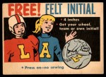 1958 Topps   Free Felt Initial Offer Card Front Thumbnail