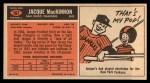 1965 Topps #167  Jacque MacKinnon  Back Thumbnail