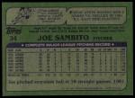 1982 Topps #34  Joe Sambito  Back Thumbnail