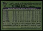 1982 Topps #50  Buddy Bell  Back Thumbnail