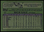 1982 Topps #67  Rich Gale  Back Thumbnail