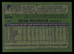 1982 Topps #124  Reid Nichols  Back Thumbnail
