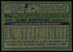 1982 Topps #204  Gary Roenicke  Back Thumbnail