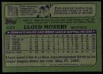 1982 Topps #223  Lloyd Moseby  Back Thumbnail