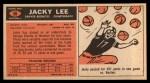 1965 Topps #56  Jacky Lee  Back Thumbnail
