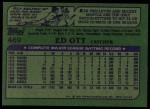 1982 Topps #469  Ed Ott  Back Thumbnail