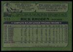 1982 Topps #513  Rick Rhoden  Back Thumbnail
