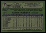 1982 Topps #594  Rennie Martin  Back Thumbnail