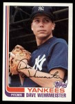 1982 Topps #694  Dave Wehrmeister  Front Thumbnail