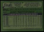 1982 Topps #697  John Montefusco  Back Thumbnail