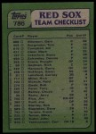 1982 Topps #786   -  Carney Lansford / Mike Torrez Red Sox Leaders Back Thumbnail
