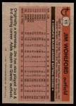1981 Topps #11  Jim Wohlford  Back Thumbnail