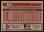 1981 Topps #15  Larry Parrish  Back Thumbnail