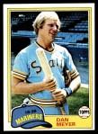1981 Topps #143  Dan Meyer  Front Thumbnail