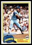 1981 Topps #166  Floyd Bannister  Front Thumbnail