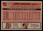 1981 Topps #265  John Candelaria  Back Thumbnail