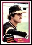 1981 Topps #384  Mike Sadek  Front Thumbnail