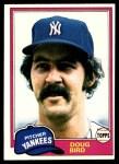1981 Topps #516  Doug Bird  Front Thumbnail