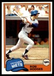 1981 Topps #537  Ron Hodges  Front Thumbnail