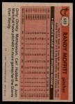 1981 Topps #622  Randy Moffitt  Back Thumbnail
