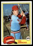 1981 Topps #705  Ted Simmons  Front Thumbnail