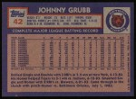 1984 Topps #42  Johnny Grubb  Back Thumbnail