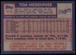 1984 Topps #112  Tom Niedenfuer  Back Thumbnail