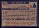 1984 Topps #232  Tim Wallach  Back Thumbnail