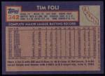 1984 Topps #342  Tim Foli  Back Thumbnail