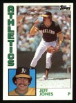 1984 Topps #464  Jeff Jones  Front Thumbnail