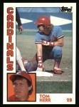 1984 Topps #649  Tom Herr  Front Thumbnail