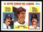 1984 Topps #717   -  Rollie Fingers / Jim Palmer / Ron Guidry AL Active ERA Leaders Front Thumbnail