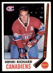 1969 Topps #11  Henri Richard  Front Thumbnail
