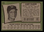 1971 Topps #535  Curt Flood  Back Thumbnail
