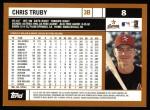 2002 Topps #8  Chris Truby  Back Thumbnail