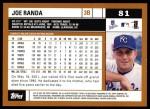 2002 Topps #81  Joe Randa  Back Thumbnail