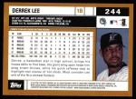 2002 Topps #244  Derrek Lee  Back Thumbnail