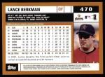 2002 Topps #470  Lance Berkman  Back Thumbnail