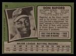 1971 Topps #29  Don Buford  Back Thumbnail