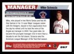 2005 Topps #267  Mike Scioscia  Back Thumbnail