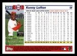 2005 Topps #420  Kenny Lofton  Back Thumbnail