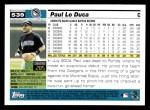 2005 Topps #539  Paul Lo Duca  Back Thumbnail