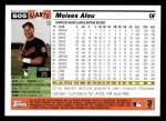 2005 Topps #605  Moises Alou  Back Thumbnail